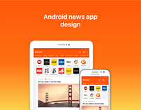 Android news app design