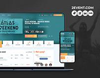 2Event — Website redesign
