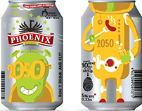 Package design for Phoenix beer