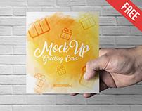 Greeting Card – 3 Free PSD Mockups