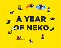 Calendar illustration: A year of neko
