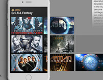 Streaming TV Mobile App Design for MGM Studios