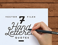 7 Hand Lettered Quotes
