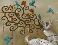 Fantasy world illustration