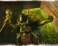 Digital Painting: Gul Dan From War of Warcraft