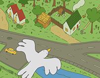 Bird Town (GIF)
