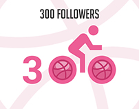 300+ followers on Dribbble.