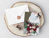 Bold 2018 Wedding Invitation