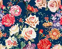 Vintage Flowers/ Print Design/ Patternbank