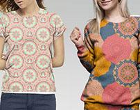 Mandala pattern. Fabric design