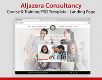 Jazera - Course & Training PSD Template & Landing Page