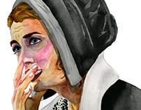 Sketchbook doodles and feminist portraits