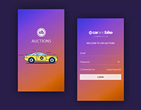 Car auction mobile app