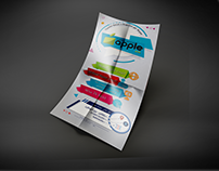 flyer of internet services store with a logo