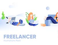 Freelancer Illustration Pack