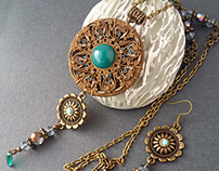 """Ethnic jewelry, """"Three Sisters"""""""