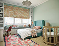 Child's Room Design Rendering by ArchiCGI