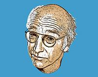 Larry David Image Trace Illustration