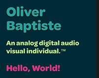 oliverbaptiste.com Summer 2018 redesign
