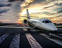 Cessna Citation Latitude Rendering