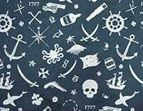 Letterpress Pirate Icons