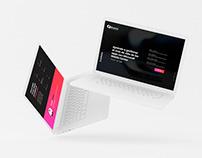 UX/UI Design Landing webinar promotion