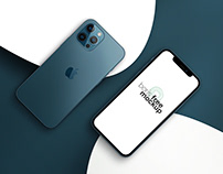 Pacific Blue iPhone 12 Pro Max Mockup 6
