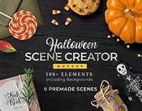 Halloween Scene Creator: 8 Premade Scenes, 100 Elements