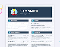 Free Engineer Resume Template with Clean Layout