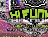 Hi Funky even flyer design