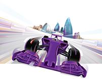 Illustration for Formula 1 Azerbaijan Grand prix.
