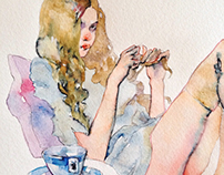 Watercolor girls