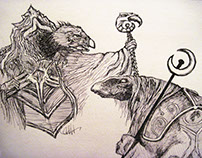 Skeksis, Mystic, ET, Gizmo & Falcor