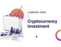 Cryptocurrency investment landing page