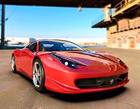 Ferrari 458 Italia 3D. Render en Keyshot