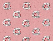 Patterns Vampire Teeth/ Cactuses/ Pizza/ Teeth Ornament