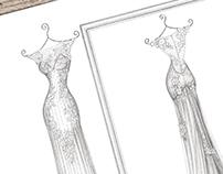 'Nicola' - Wedding Dress Illustration