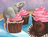Rat and Cupcakes
