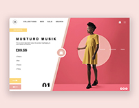 Fashion Product Page UI/UX Design