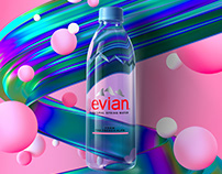 evianwater bottle art project