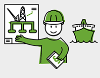 Learning at work - Illustrations for for DNV GL