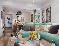 Apartment in Egypt , Interior Design Living Room