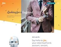 jim   Robot boyfriend   Landing page