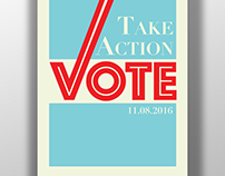 Get Out The Vote AIGA Poster