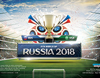 2018 World Cup Russia Flyer Template