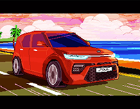 Driving Soul [California stage] / Pixel Art