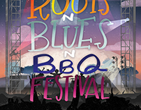 Roots n' Blues n' BBQ Festival Poster 2017