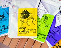 DRIPPING CAT DRIP COFFEE 落汤喵挂耳咖啡   包装设计