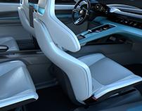 Porsche E-Mission Interior