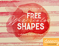 Free Abstract Watercolor Shapes